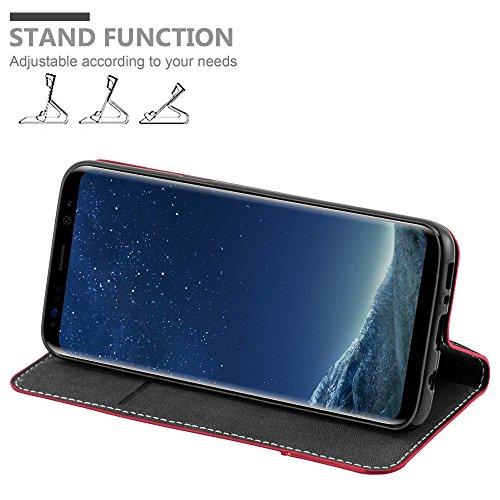 Cadorabo - Funda Estilo Book para >                                  Samsung Galaxy S8 PLUS                                  < de Diseño gamuza-Artificial / Cuero-Artificial con Tarjetero, Función de Soporte y Cierre Magnético Invisible