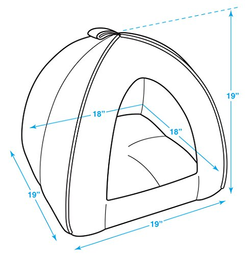 Best Pet SuppliesPet Tent-Soft Bed for Dog and Cat by Best Pet Supplies, X-Large Brown Linen