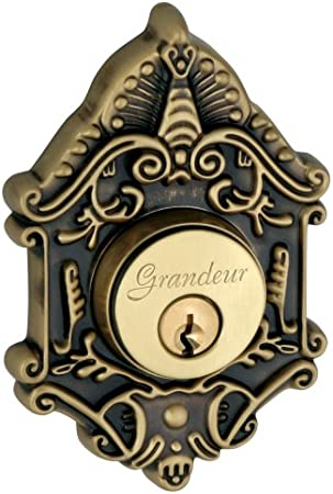 Grandeur Grande Victorian Single Cylinder Deadbolt Vintage Brass Door Dead Bolts Amazon Com