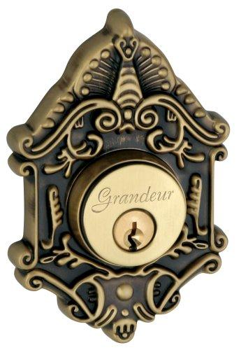 Grandeur GS60-GVCGVC-KD-VB Grande Victorian Deadbolt, Single Cylinder, Vintage Brass Finish