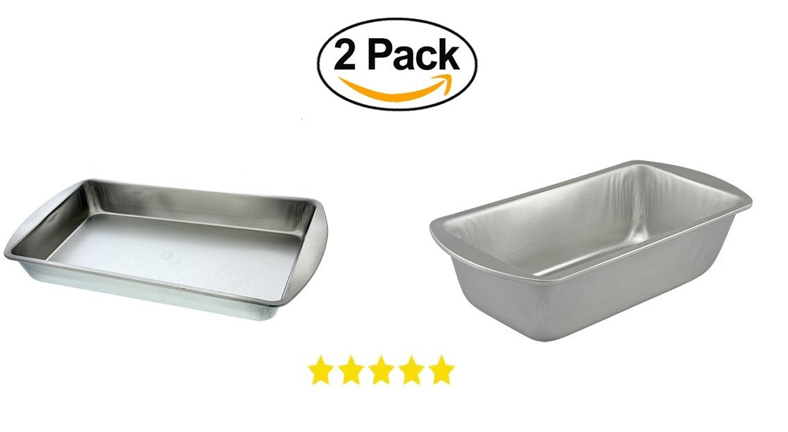 Brownie & Biscuit Rectangle Baking Pan & Loaf Bread Pan. Stainless Steel Kitchen Oven Banking Pan. Dish Washer Safe