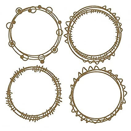 Amazon.com: Circle Doodle Frames Laser Cut Chipboard - 4 piece set