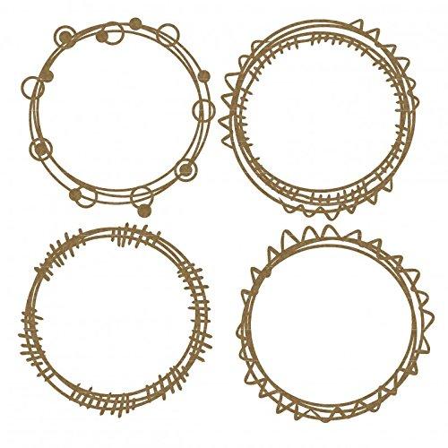 Laser Cut Circle (Circle Doodle Frames Laser Cut Chipboard - 4 piece set)
