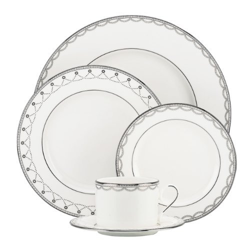Lenox 822939 Iced Pirouette 5-Piece Place Setting, White
