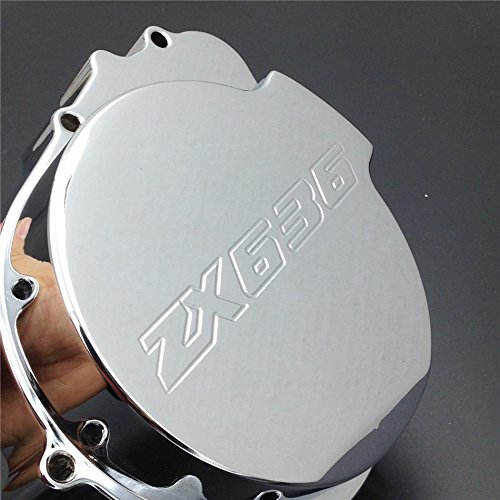 Left Side Crankcase (XKH Group Motorcycle Billet Motor Engine Stator Cover For Kawasaki Zx6R 636 2003 2004 Chrome Left Side NEW)