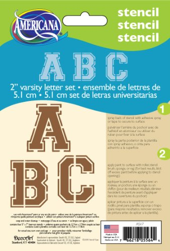 DecoArt 5 Inch 7 Inch Stencil Alphabet