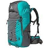Coreal 50L Hiking Backpack Camping Rucksack Trekking Daypack Climbing Bag Cyan