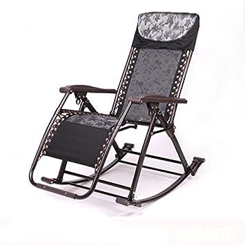 Balcon dans les personnes âgées Chaises à bascule Chaise ...