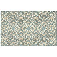 Jean Pierre Elizabeth 28 x 48 in. Loop Accent Rug, Mineral Blue/Berber