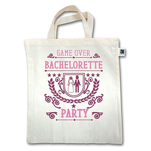 JGA Junggesellinnenabschied - Game Over - Bachelorette Party - Unisize - Natural - XT500 - Jutebeutel kurzer Henkel