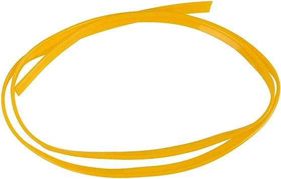 X AUTOHAUX Car Moulding Trim Strip Line Door Edge Seal Protector Orange 5m