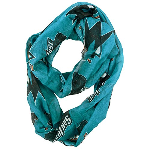 Littlearth NHL Womens NHL Sheer Infinity Scarf, Alternate Color