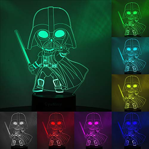 3D Illusion Star Wars Night Light for Kids, 3 Pattern and 16 Color Change Decor Lamp – Star Wars Toys and Gifts for Boys…