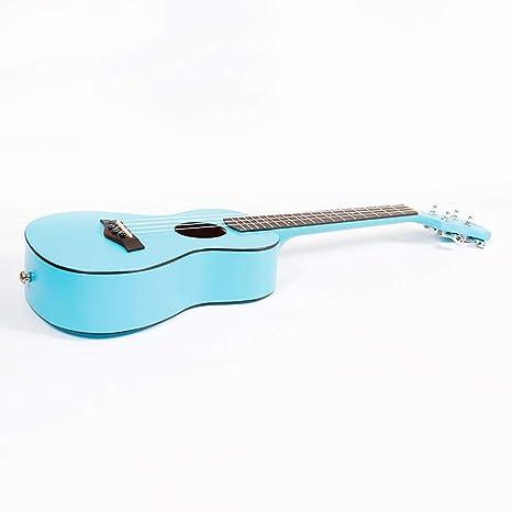 Miiliedy Mahogany Blue Sky Ukulele Principiante Estudiante Adulto Practique tocar pequeños instrumentos de guitarra de 23