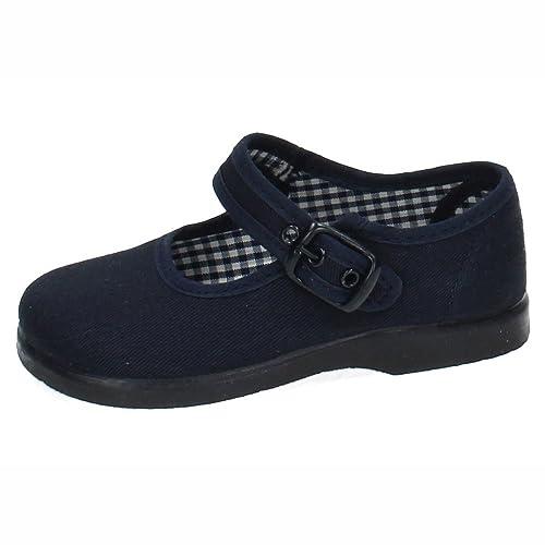 MADE IN SPAIN 951 Zapatillas Lona Azul NIÑA Zapatillas: Amazon.es: Zapatos y complementos