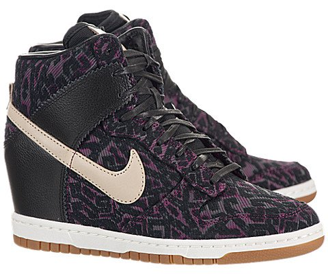 Nike Women's Dunk Sky HI PRM Black/Linen Casual Shoe 6.5 Women US