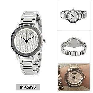 Michael Kors Women's Kinley Silver-Tone Watch MK5996