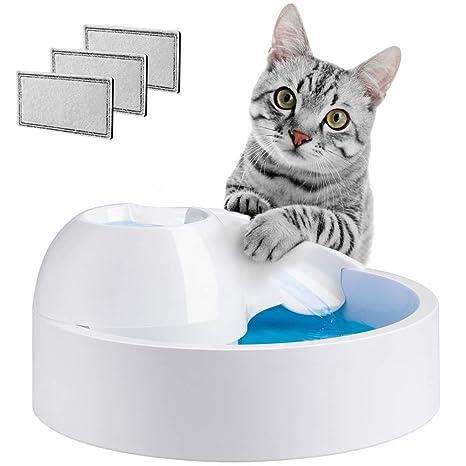 Terra Hiker Fuente para Mascotas Fuente de Agua para Perros y Gatos con 1.5 L (50 oz) de Capacidad, Filtración de Carbón Activado y Circulación ...