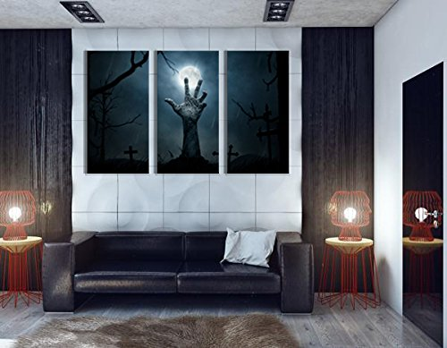 NAN Wind Zombie Halloween Wallpaper Dead Hand Coming Out Halloween Paintings for Wall Art Painting Canvas Wall Paintings Home Decoration Canvas Prints Paintings Framed and Stretched,Ready to Hang -