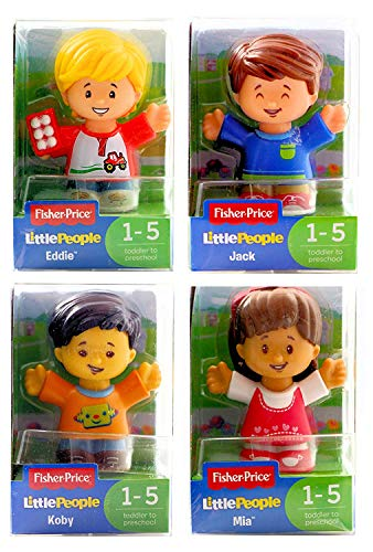 (Little People Fisher-Price Set of 4 Figures - Koby, Jack, Mia & Eddie - Set 2)