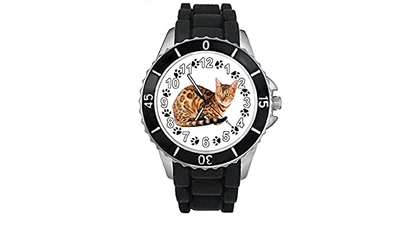 Amazon.com: Timest - Ocicat Cat - Unisex Watch with Silicone Strap in Black SE0190b: Watches
