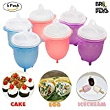 Egglettes-Microwave Egg Cookers-Egg Poachers -100% Pure Silicone Cups- Hard&Soft Boiled Eggs Without Shell- Non-Stick