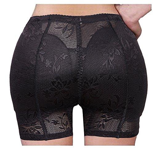 Hip Butt Pads (Women's Seamless Jacquard Shapewear Enhancer Hip and Butt Padded Lifter Panty Black)