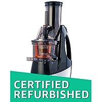 (CERTIFIED REFURBISHED) Usha Nutripress (362F) 240-Watt Cold Press Slow Juicer (Black and Brush Steel Finish)