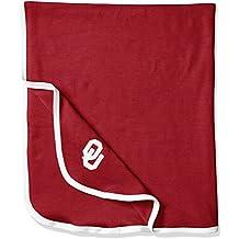 NCAA Oklahoma Sooners Infant Blanket, One Size, Crimson/White