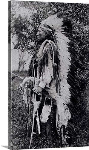 American School Gallery-Wrapped Canvas entitled White Wolf, a Comanche Chief, (Comanche Indian Costumes)