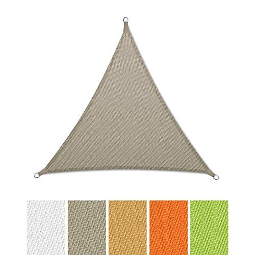 casa-pura-Sonnensegel-wasserabweisend-imprgniert-Dreieck-gleichseitig-UV-Schutz-verschiedene-Farben-und-Gren