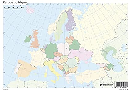 Cartina Muta Europa Con Capitali.Erik Confezione Da 10 Cartoncini A Muta Formato A4 Motivo