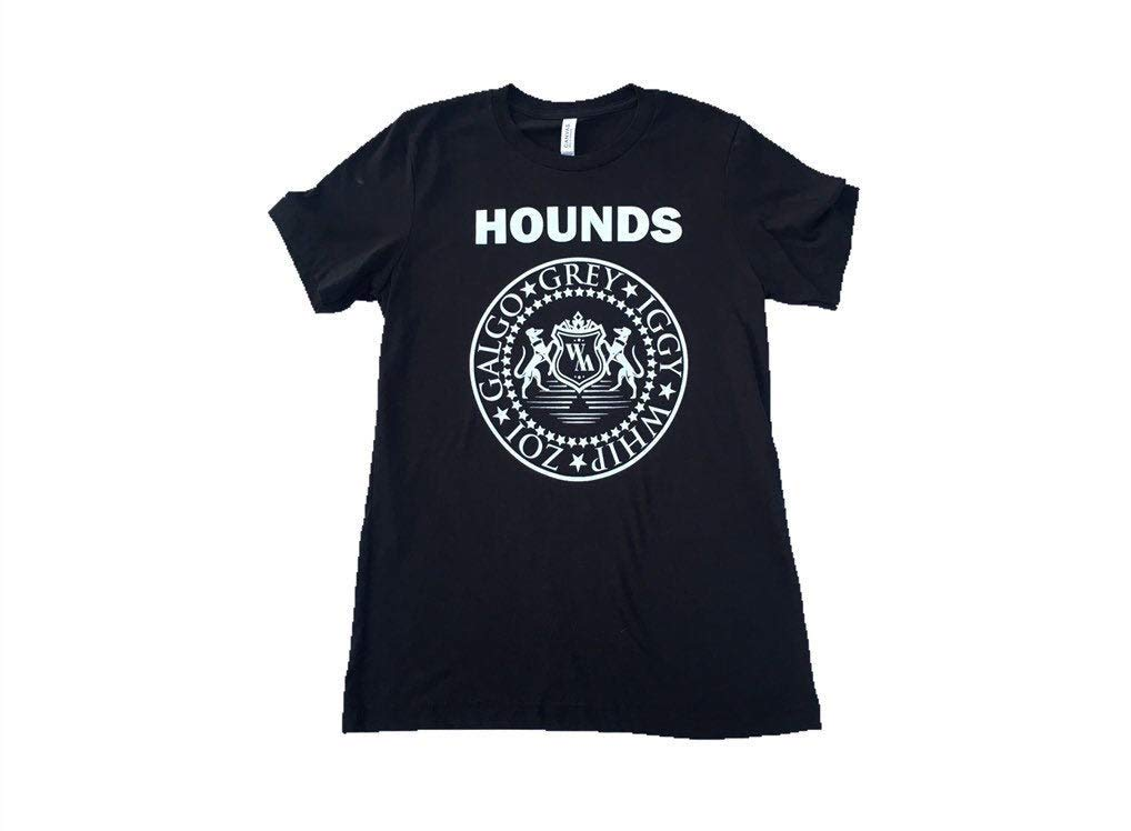 Unisex Dog Lover Tee Greyhound T-shirt Handmade