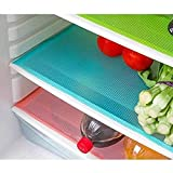 Kuber IndustriesTM Refrigerator Drawer Mat / Fridge Mat Set of 6 Pcs (13*19 Inches) (Multi Plastic)