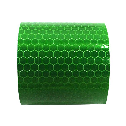 Reflective Tape Waterproof Self-Adhesive For Trucks Trailers Car Park Traffic Warning Caution Conspicuity Tape Tape-Reflective Tape Green 2X16.4 1 PCS