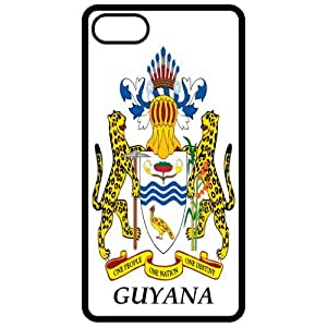 Guyana - Coat Of Arms Flag Emblem Black Apple Iphone 5 Cell Phone Case - Cover