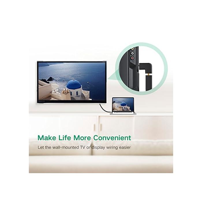 51jT4mpGZOL Haz clic aquí para comprobar si este producto es compatible con tu modelo : El adaptador HDMI de alta velocidad permite extender el puerto HDMI desde el televisor, monitor, proyector y otra pantalla, proteja el puerto HDMI original. Este conector HDMI garantiza una larga vida de sus costosos dispositivos y cables : El adaptador HDMI de 90 grado y 270 grado es compatible con todos los dispositivos HDMI, tales como PC, Nintendo Switch, PS4 Pro / PS4 / PS3, Xbox One / 360, Reproductor de Blu-ray, Freebox, DVD, Apple TV, Box TV, Proyector de video etc.