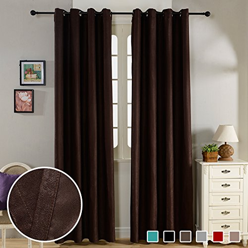 Top Finel Insulated Curtains Chocolate