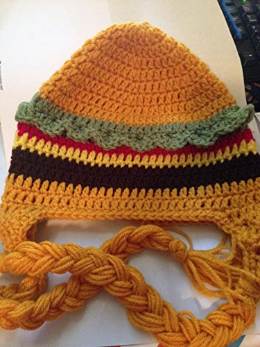 Cheese Burger Child Costumes (Teen or Adult Crochet Cheeseburger Beanie Hat)