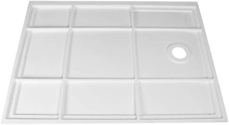 Porcelanosa - Plato De Ducha Rectangular De Resina Antideslizante - Izquierda - 120 x 89,5 x 4 cm: Amazon.es: Hogar