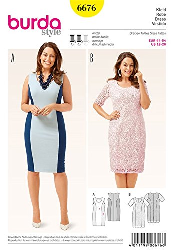 Burda Womens Dress Sewing Pattern 6676