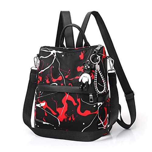 Haxibkena Casual Donna Backpack Borse Rosso Zaini Leather a Purse Pu spalla wrrFTI