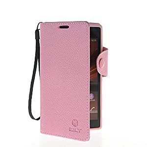 SHOPPINGBOX Flip Cover Leather Wallet Card Holder Pouch Etui Stand Case For Sony Xperia C S39h Babypink