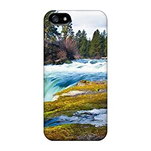 Anti-scratch Case Cover Phone Case Protective Superb River Cascade Case For Iphone 5/5s