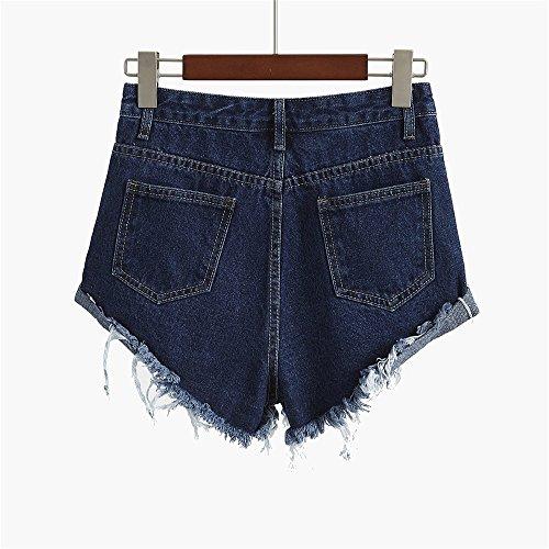 in mutandine FuweiEncore retr larghi jeans donna da Pantaloncini qwqSxat4U