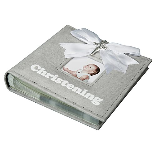 Modali Baby Christening Baby & Children Elegant Photo Album with Ribbon and Beautiful Silver Cross 80 Pictures 4x6'' by Modali Baby (Image #5)