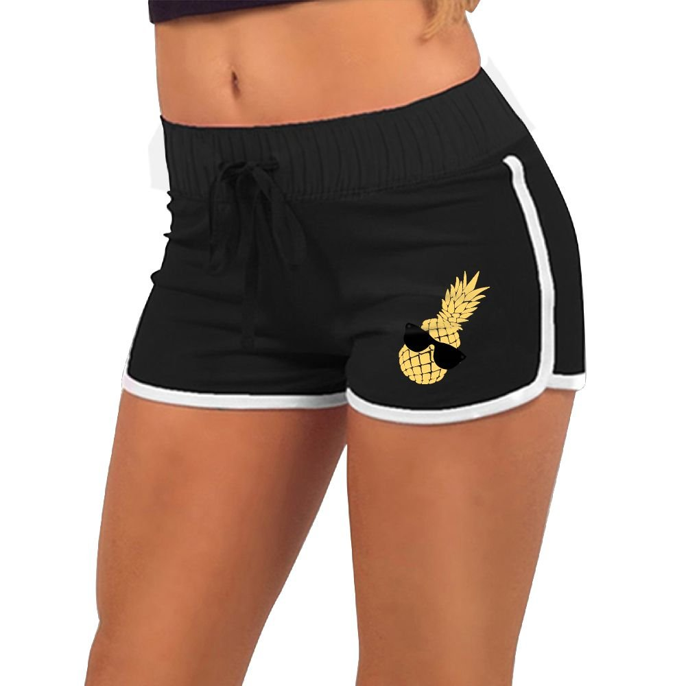 HUANGLING Pineapple Sunglass Women's Summer Casual Hot Pants L