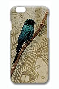 Birds Paradise Slim Soft Cover for iPhone 6 Case (4.7 inch) TPU Black