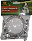 CABLE DOG LEASH 182cm (6ft) Colours Vary
