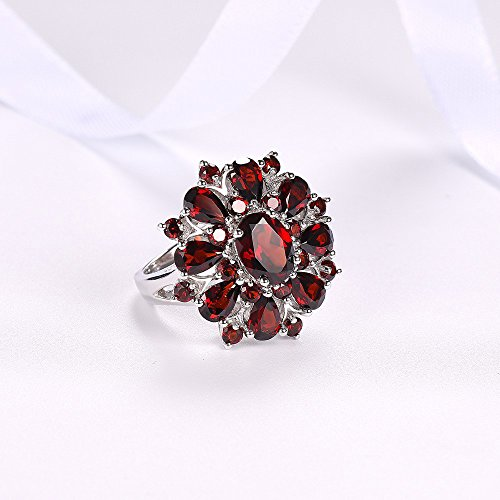 XBKPLO Rings for Women Pomegranate Ruby Diamond Wedding Accessories Jewelry Gift Size 6-10 (10) by XBKPLO (Image #5)